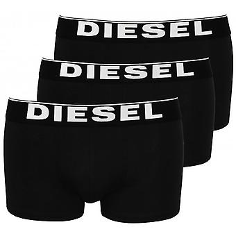 Diesel The Essential 3-Pack Cotton Boxer Trunks, Black