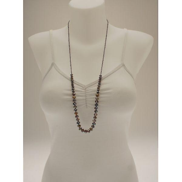 W.A.T Mauve Facet Cut Crystal Bead Necklace