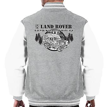 Haynes Owners Workshop Manual Land Rover Forest Black mannen Varsity Jacket