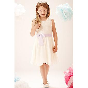 Little MisDress PU Sequin Bow Front Dress