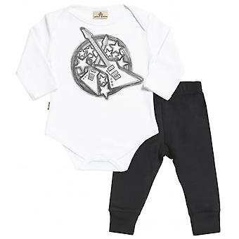 Spoilt Rotten Guitar Print Baby T-Shirt & Baby Jersey Trousers Outfit Set