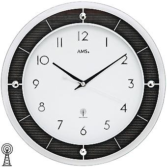 AMS 5854 wall clock radio mineral glass carbon applications