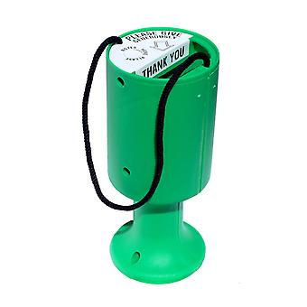 10 Round Charity Money Collection Boxes - Green