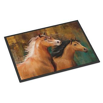 Carolines Treasures  PTW2021MAT Horse Duo Indoor or Outdoor Mat 18x27