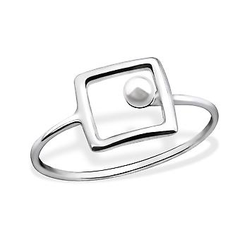 Square - 925 Sterling Silver Jewelled Rings - W30408x