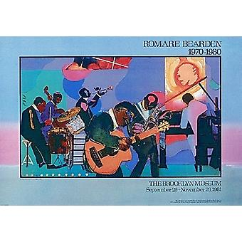 Jamming At the Savoy Poster Print by Romare Bearden (32 x 22)