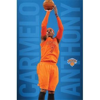 New York Knicks Carmelo Anthony Poster Poster Print