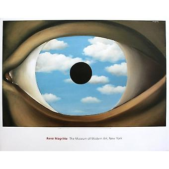 The False Mirror Poster Print by Rene Magritte (33 x 26)