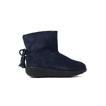 Women's Mukluk Shorty II Boots With Tassels - Midnight Navy Suede