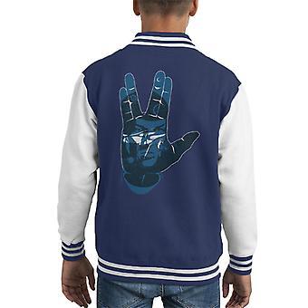 Star Trek Live Long And Prosper Salute Kid's Varsity Jacket