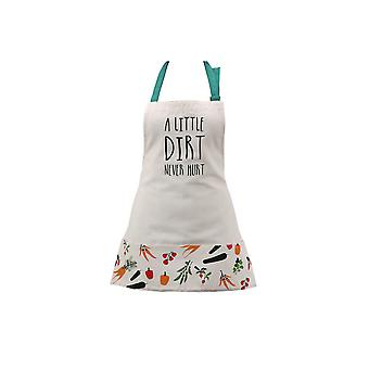 CGB Giftware Vegetable Patch Little Dirt Never Hurt Apron With Matching Bag