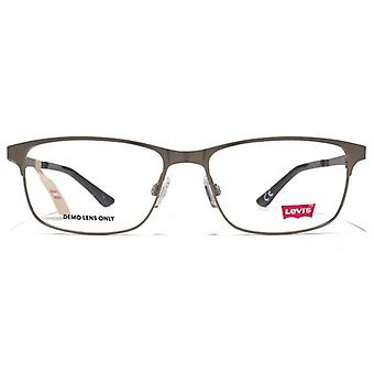 Levis Metal Rectangle Glasses In Gunmetal
