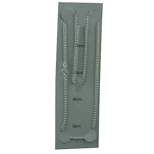 Silver 2mm wide Bead Pendant Chain 18 inches