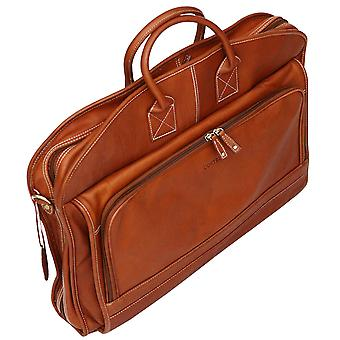 Cortez Colombian Leather Soft Garment Bag Suiter Suit Carrier Dress Case Travel Case