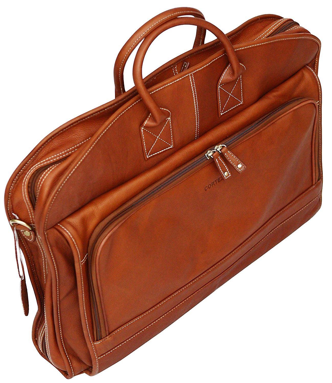 Cortez colombien cuir sac de vêtement souple Suiter transporteur robe affaire voyage valise