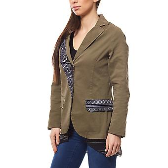 PLEASE locations-look Blazer with blouse insert Green
