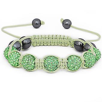 Iced out unisex bracelet - SHAMBALLA lime green