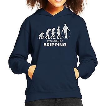 Evolution Of Skipping Kid's Hooded Sweatshirt