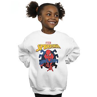 Marvel Girls Spider-Man Web Shooting Emblem Logo Sweatshirt