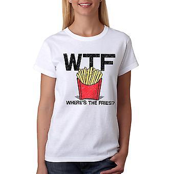 Humor Fries Women's White T-shirt