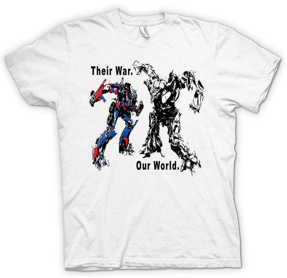 Mens T-shirt - Transformers War - Optimus Prime