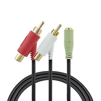 1.4m Female RCA Audio Splitter Cable for Turtle Beach Gold Plated
