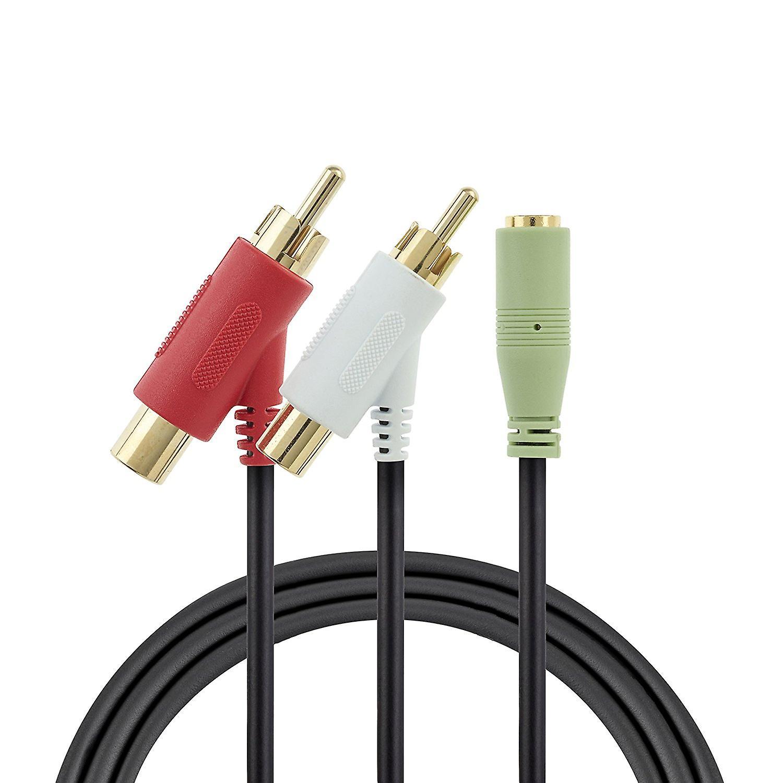 1,4 m kvindelige RCA lyd Splitter kabel til Turtle Beach forgyldt