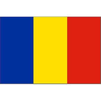 Romania flagg 5 ft x 3 ft med Jer.