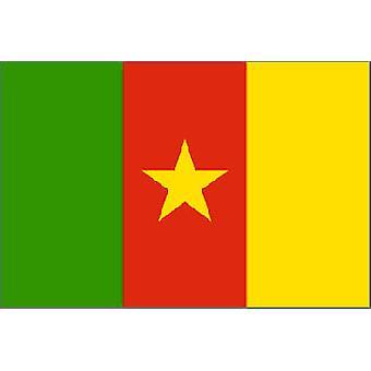 Kameruns flagg 5 ft x 3 ft med hull For hengende