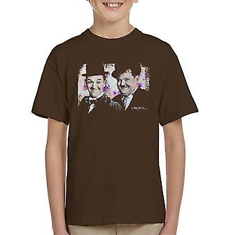 Sidney Maurer Original Portrait Of Laurel And Hardy Kid's T-Shirt
