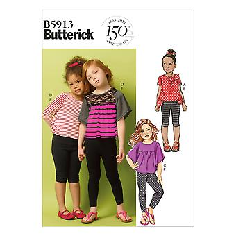 Children's/Girls' Top and Leggings-2-3-4-5 -*SEWING PATTERN*