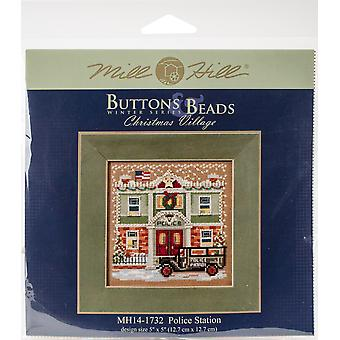 Police Station Buttons & Beads Counted Cross Stitch Kit-5