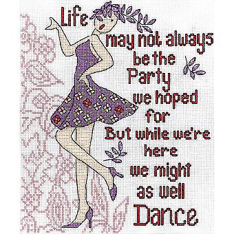 Dance Party Counted Cross Stitch Kit-8
