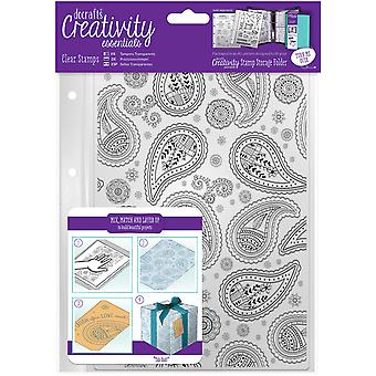 Creativity Essentials A5 Clear Background Stamp-Paisley