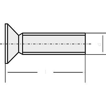TOOLCRAFT 839910 Underskrudde skruer m2, 5-8 mm Torx DIN 965 rustfritt stål A2 20 eller flere PCer
