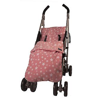 Genesi universale rosa Stars fodera in pile morbido coprigambe Cosytoes Buggy