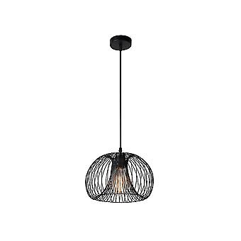 Lucide VINTI Industrial Black Copper Wire Ceiling Pendant