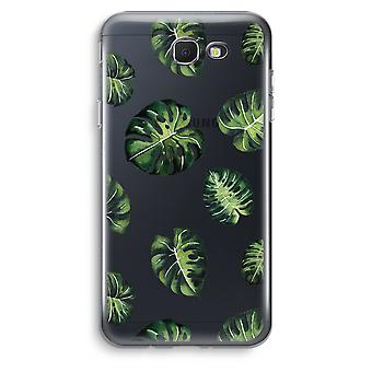 Samsung Galaxy J5 Prime (2017) Transparent Case (Soft) - Tropical leaves