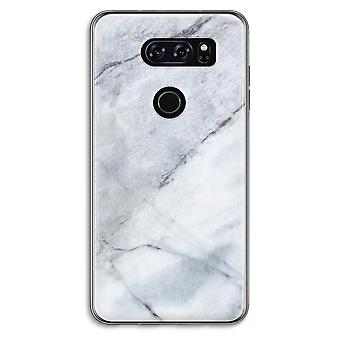 LG V30 Transparent Case - Marble white
