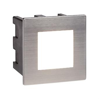 Ankle Led Indoor/outdoor Recessed Square, Chrome - Searchlight 0761