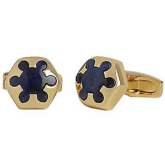 Simon Carter Radial Sodalite Cufflinks - Gold/Blue