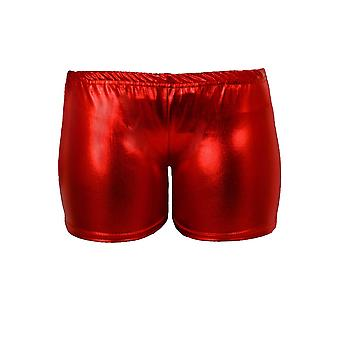 Jenter metallisk Wet Look turn dans strekk Party barn hotpants Shorts