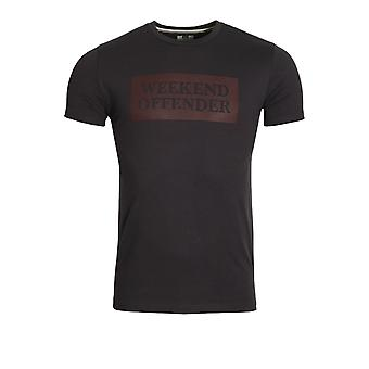 Weekend Offender Groves Graphic Print T-Shirt | Steel