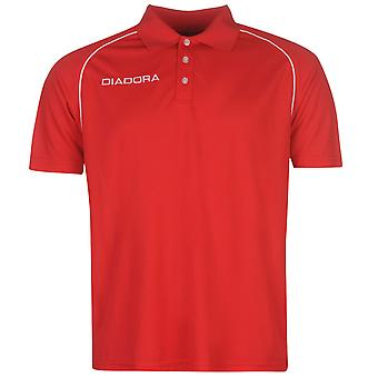 Diadora Mens Madrid Polo Shirt Fold Down Collar Short Sleeve Casual Top