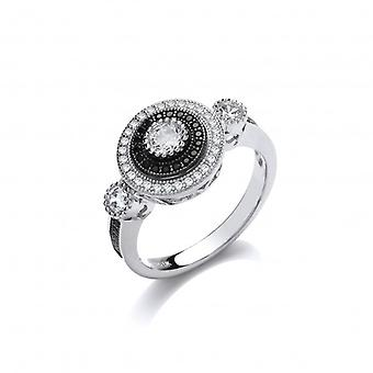 Cavendish French Elegant Silver and CZ Evening Ring