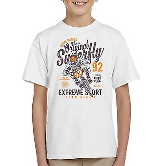 Pedal Pusher opprinnelige Superfly sykkel Kids t-skjorte
