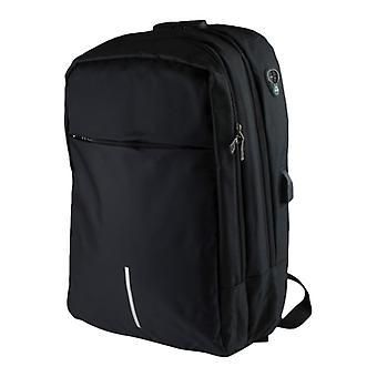 16 بوصة حقيبة الكمبيوتر المحمول مع مضاد للسرقة والناقل التسلسلي العام بورت-أسود