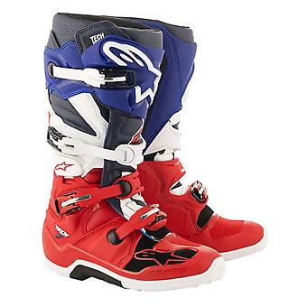 Rojo de Alpinestars Tech 7 - Unión Limited Edition MX bota
