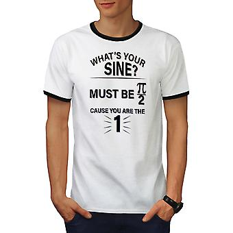 Sinus Math formule mannen wit / BlackRinger T-shirt | Wellcoda