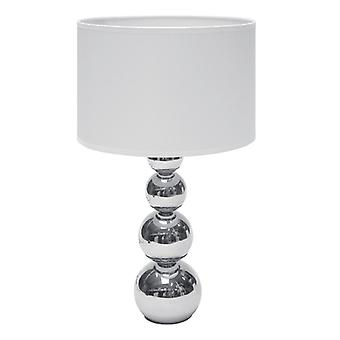 Table lamp with touch function-40W, chrome/White